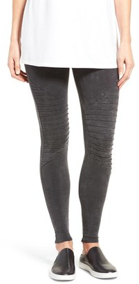 Women's Nordstrom Moto Washed Cotton Blend Leggings $45 thestylecure.com