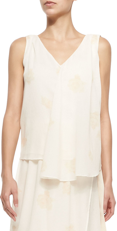 Band Of Outsiders Band Of Outsiders Swing V-Neck Tank W/ Faint Print
