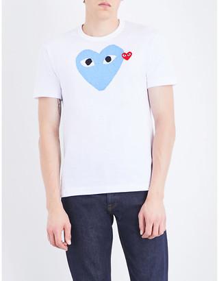 Comme des Garcons Heart-logo cotton-jersey T-shirt