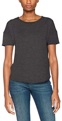 Ichi Women's's JIA SS T - Shirt Grau (Dark Grey Melange 021) (Size: S)