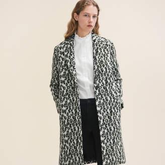 Maje Leopard-print frock coat