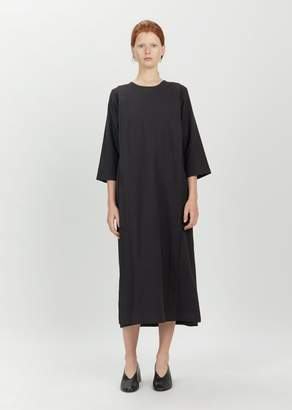 Black Crane Apron Dress Black
