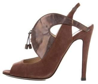 Nicholas Kirkwood Suede Slingback Sandals