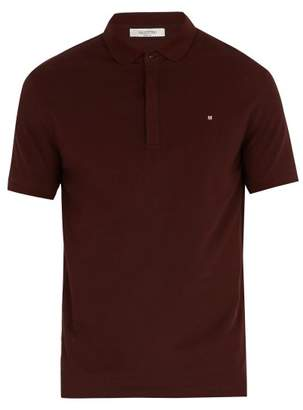Valentino - Rockstud Cotton Polo Shirt - Mens - Burgundy