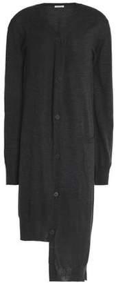 Tomas Maier Asymmetric Wool Cardigan