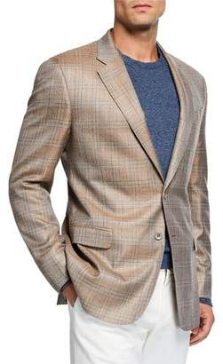 Giorgio Armani Men's Melange Plaid Sport Coat