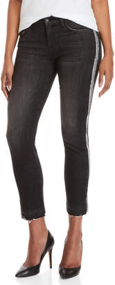 Flying Monkey Black Side Stripe Straight Leg Jeans