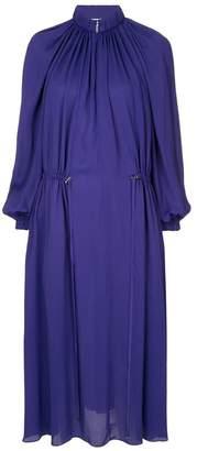 Tibi georgette gathered dress