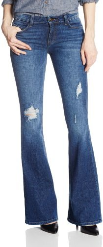 Siwy Women's Janis Mid Rise Classic Pocket Flare Jean In Treasure Map