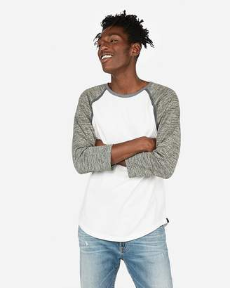 Express Three-Quarter Contrast Sleeve Baseball Tee