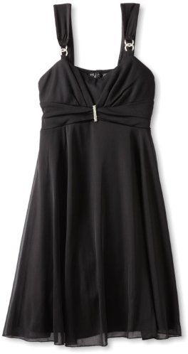 Ruby Rox Girls 7-16 Rhinestone Sheer Matte Jersey Dress
