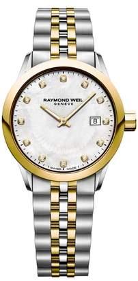 Raymond Weil Freelancer Diamond Bracelet Watch, 29mm