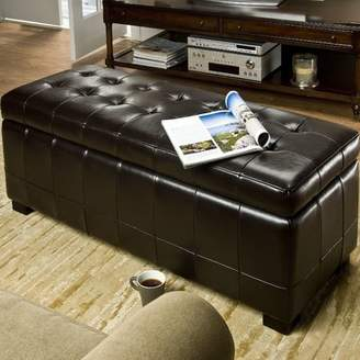 Brayden Studio Sinope Leather Storage Bench