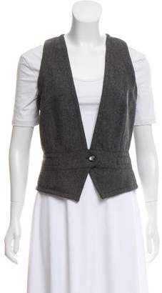 Dolce & Gabbana Wool Herringbone Vest