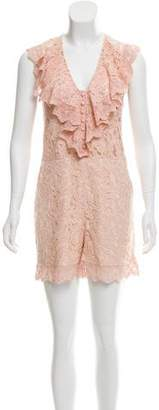 ALICE by Temperley Sleeveless Lace Romper