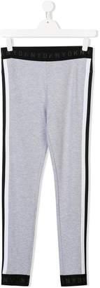 DKNY TEEN side stripe jersey leggings