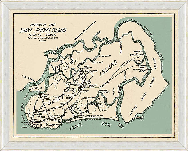 Coastal Map of Saint Simons Island - 18