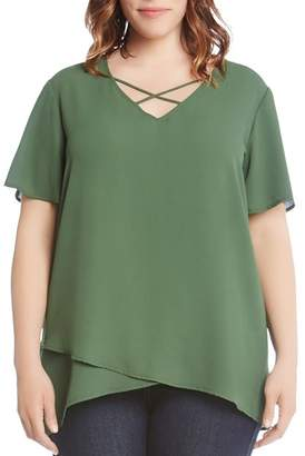Karen Kane Plus Crisscross Top