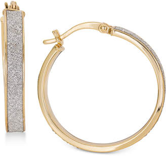 Giani Bernini Glitter Hoop Earrings in Sterling Silver