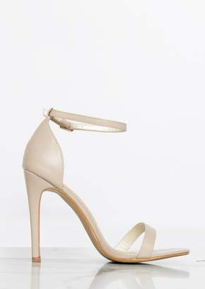 529960a1e41 Missy Empire Missyempire Annie Beige Matte Ankle Strap Heels