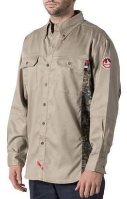 Walls Men's Flame Resistant Oilfield Camo Work Shirt, HRC Level 2