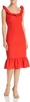 Nanette Lepore nanette Sleeveless Ruffle-Trim Dress