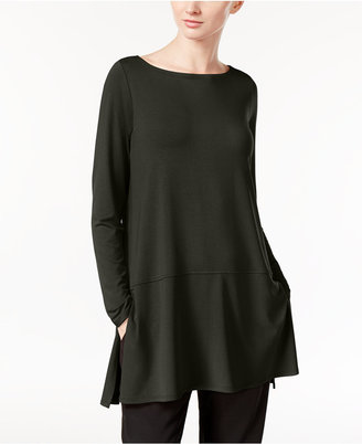 Eileen Fisher Boat-Neck Tunic with seam detail, A Macy's Exclusive $128 thestylecure.com