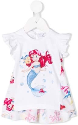 MonnaLisa Little Mermaid print T-shirt