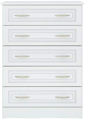 Consort Furniture Limited Dorchester Ready Assembled 5 Drawer Chest