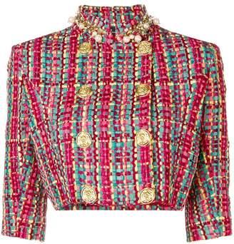 Elisabetta Franchi cropped tweed jacket