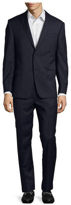 Michael Kors Check Slim Wool Suit