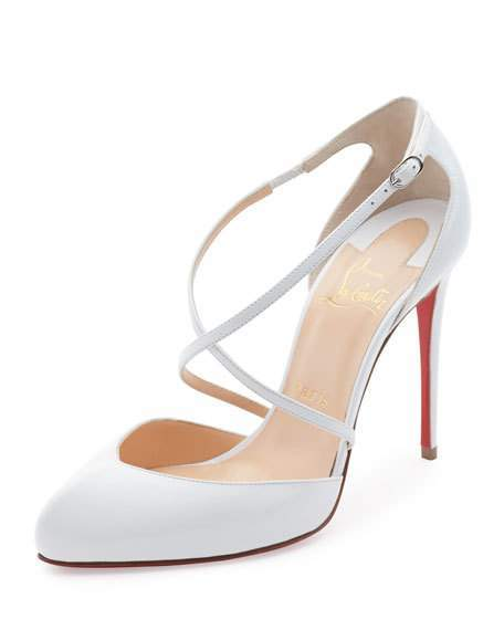 Christian Louboutin Christian Louboutin Crossbreche Leather Red Sole Pump, Latte