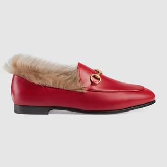 Gucci Jordaan fur loafer