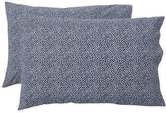 Pottery Barn Teen Mini Dot Sheet Extra Pillowcases, Set of 2, Royal Navy