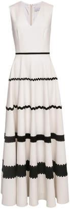 Lilli Jahilo Anja V-Neck Gown With Ribbon Embellishment
