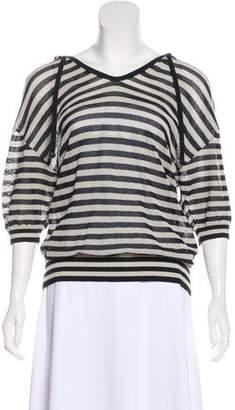 Akris Punto Wool-Blend Mesh Hooded Sweater