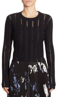 Proenza Schouler Cropped Crewneck Pullover $850 thestylecure.com