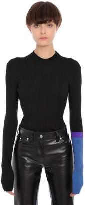 Calvin Klein (カルバン クライン) - CALVIN KLEIN 205W39NYC ウール リブニットトップ