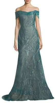Rene Ruiz Off-The-Shoulder Gown