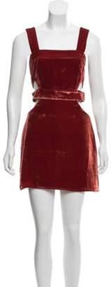 For Love & Lemons Silk-Blend Velvet Dress w/ Tags Terracotta Silk-Blend Velvet Dress w/ Tags