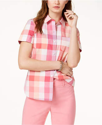 Tommy Hilfiger (トミー ヒルフィガー) - Tommy Hilfiger Short-Sleeve Cotton Shirt