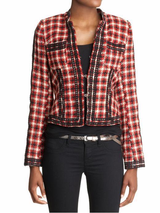 Aryn K. Plaid Ladylike Jacket