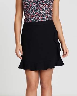 Oasis Ruffle Wrap Texture Skirt