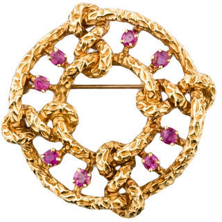 Tiffany & Co. Pink Sapphire Brooch $1,495 thestylecure.com
