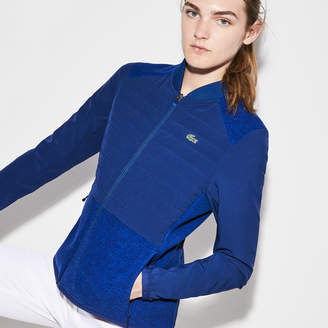 Lacoste Women's SPORT Quilted Taffeta And Fleece Golf Jacket