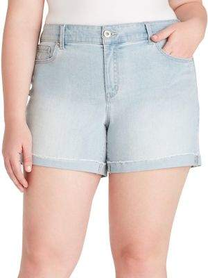 22f9db6d3c Jessica Simpson Plus Forever Rolled Shorts