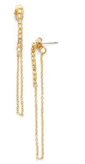 Women's Ettika Crystal Chain Drop Earrings