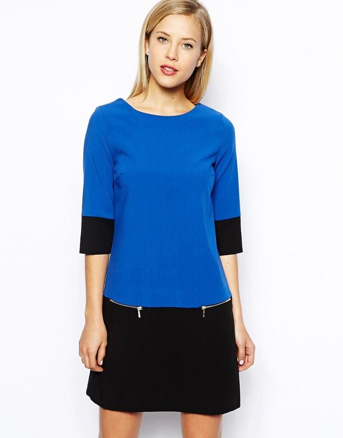 Oasis Colourblock Shift Dress