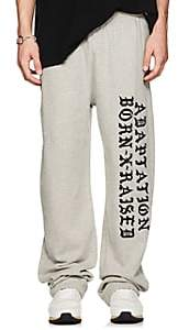ADAPTATION / BORN X RAISED Men's Embroidered Cotton Fleece Sweatpants - Gray