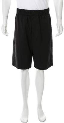 Alexander Wang Flat Front Wool-Blend Shorts